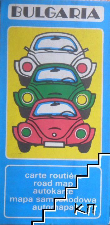 Bulgaria, carte routière. Road map. Autokarte. Mapa samochodowa. Automapa