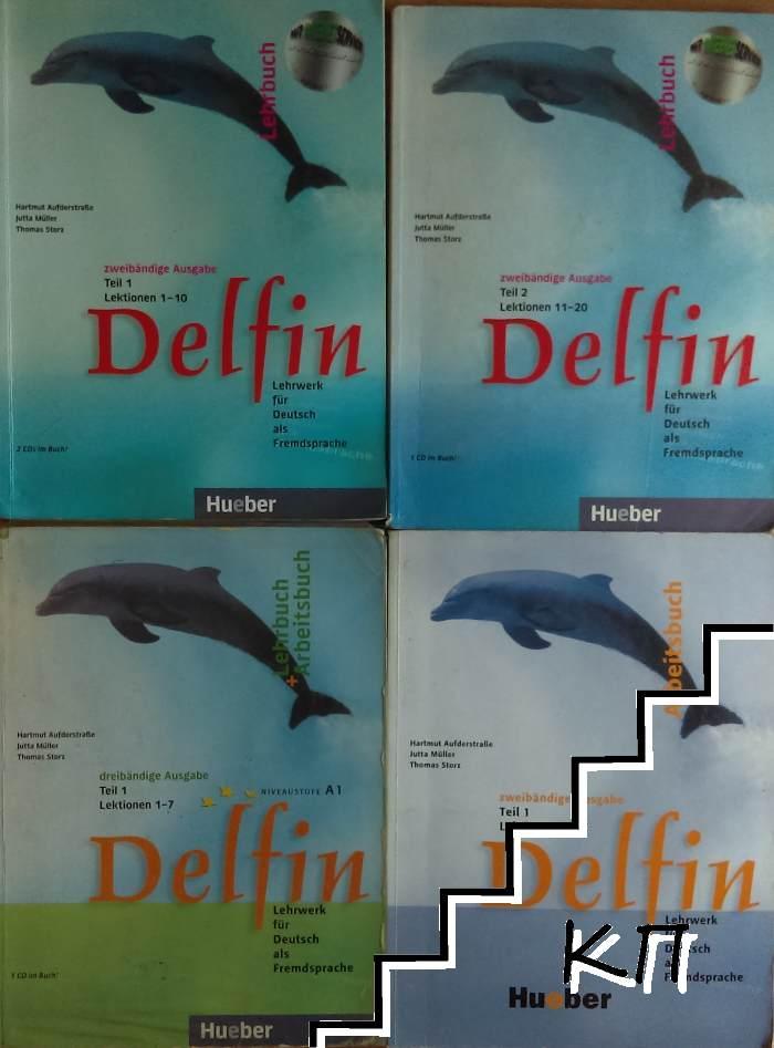Delfin. Lehrbuch Teil 1-2. Lektionen 1-10 / 11-20. Arbeitsbuch Teil 1. Lektionen 1-10. Lehrbuch + Arbeitsbuch Teil 1. Lektionen 1-7