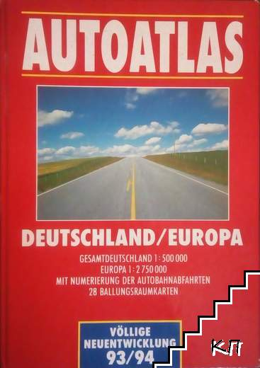 Autoatlas Deutschland Europa 1993-1994