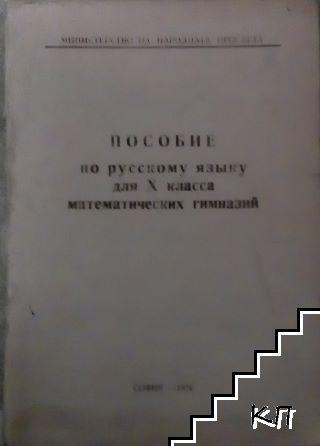 Пособие по русскому языку для 10. класса математических гимназий
