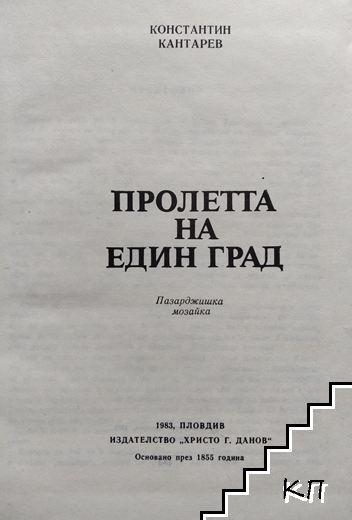 Пролетта на един град / Паметник на пловдивското население (Допълнителна снимка 1)