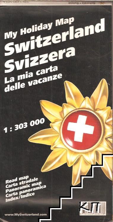 My hoiday map Switzerland Svizzera. La mia carta delle vacanze 1:303000