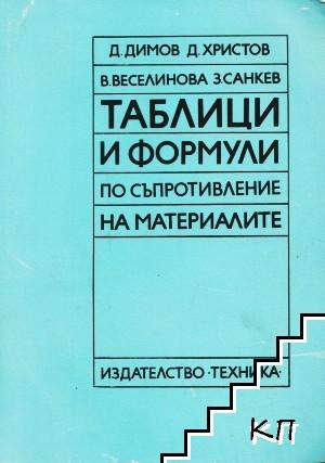 Таблици и формули по съпротивление на материалите