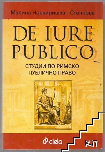 De Iure Publicо. Студии по римско публично право