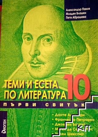 Теми и есета по литература за 10. клас. Свитък 1
