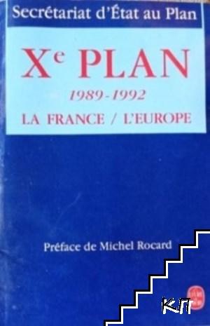 Xe plan 1989-1992 La France/l'Europe