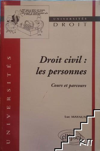 Droit civil: Les personnes
