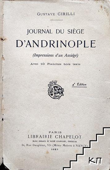 Journal du siège d'Adrinople