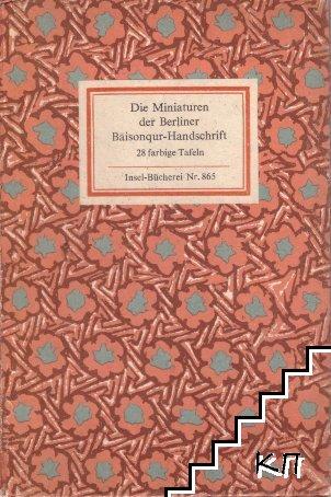 Die Miniaturen der Berliner Baisonqur-Handschrift